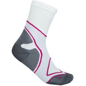 Bauerfeind Run Performance Mid Cut Socks Women, blanco/rosa